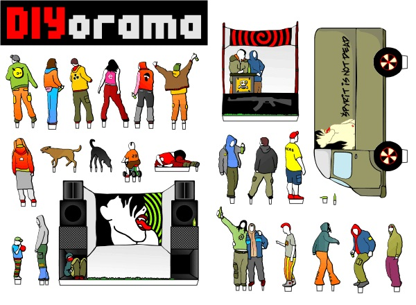 DIYorama_tekno betlém_made by Myko